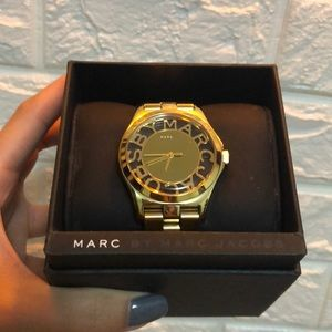 MARC JACOBS Gold Tone Watch